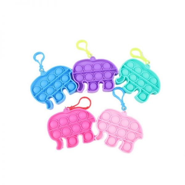 1pc Stress Relief Sensory Toys Bubble Fidget Toy Keychain Charm Pop Fidgeting Reliever Decompression Toys Push 4 - Popping Fidgets