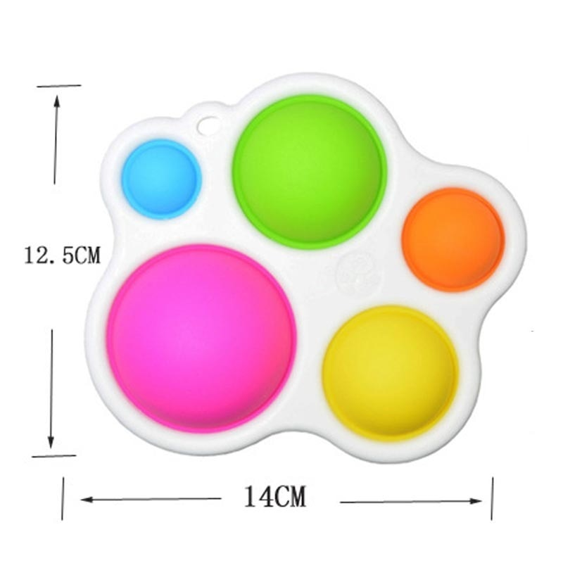Baby Simple Sensory Toys for Ages 6 Months and Up Brain Teaser for Toddlers Dimple Fidget 2 - Popping Fidgets