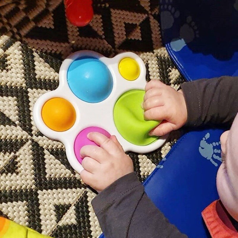 Baby Simple Sensory Toys for Ages 6 Months and Up Brain Teaser for Toddlers Dimple Fidget 5 - Popping Fidgets