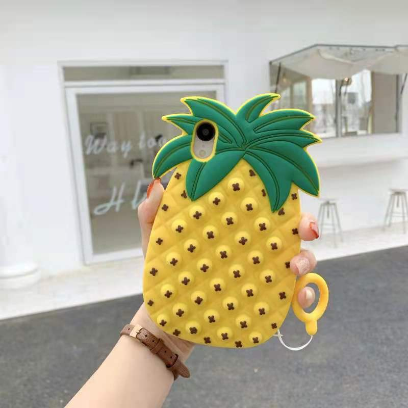 Bubble Pinapple phone case for iphone6 7 8 XS xr 11 12pro se mini Reliver Stress 5 - Popping Fidgets