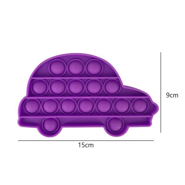 Car Shape Push POP Bubble Sensory Autism Needs Stress Reliever Toy Anti stress Funny POPs It 5 - Popping Fidgets