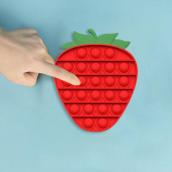 Cartoon Fruit Push Bubbles Sensory Toys Soft Autism Anti stress Toys Early Education Puzzle Relieve Stress 4 - Popping Fidgets
