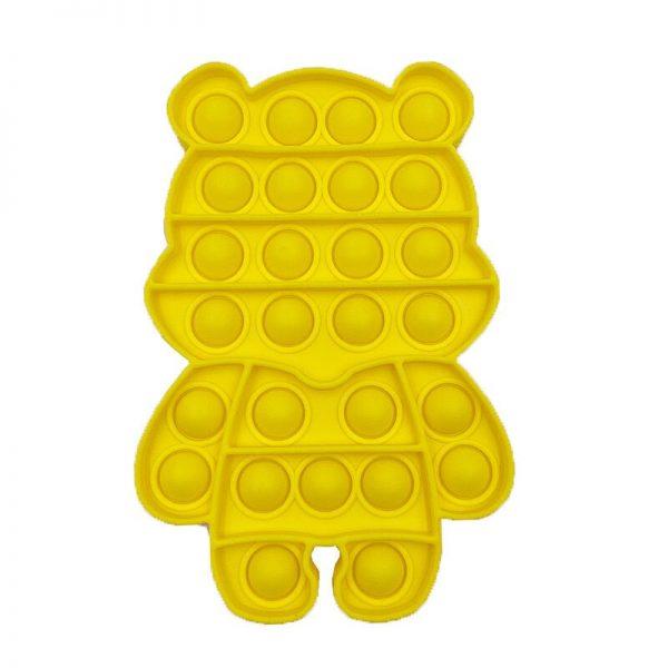 Cute Bear Shape Push Bubble Sensory Squishy Fidget For Autism Special Needs Antistress Game Adult Children 4 - Popping Fidgets