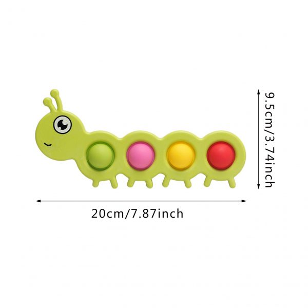 Dimpl Digits Simple Dimple Fidget Toy Infant Early Education Intelligence Development And Intensive Training Toys Pop 5 - Popping Fidgets