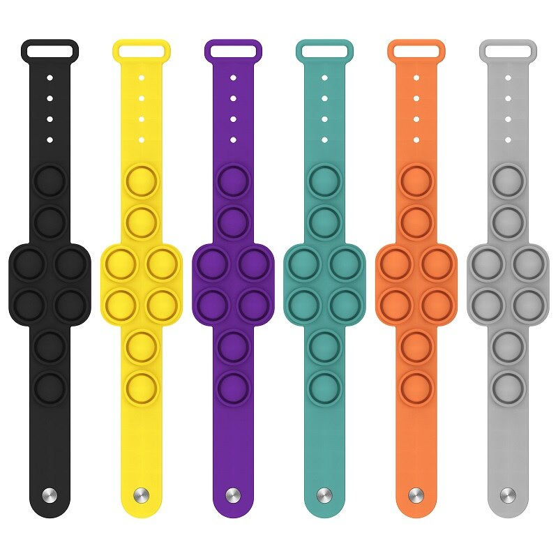 Fidget Portable Dimple Silicone Bracelet Relieves Pressure Pops Figet It Toy Is Nnon Toxic Puzzle Soft 1 - Popping Fidgets