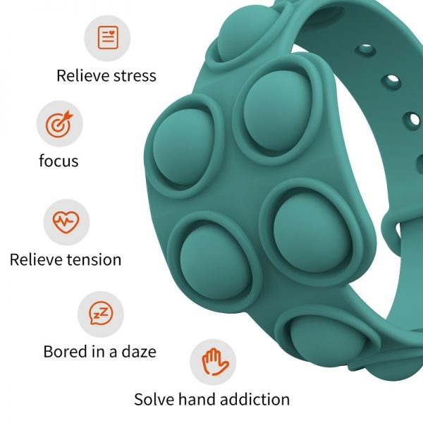 Fidget Portable Dimple Silicone Bracelet Relieves Pressure Pops Figet It Toy Is Nnon Toxic Puzzle Soft 3 - Popping Fidgets