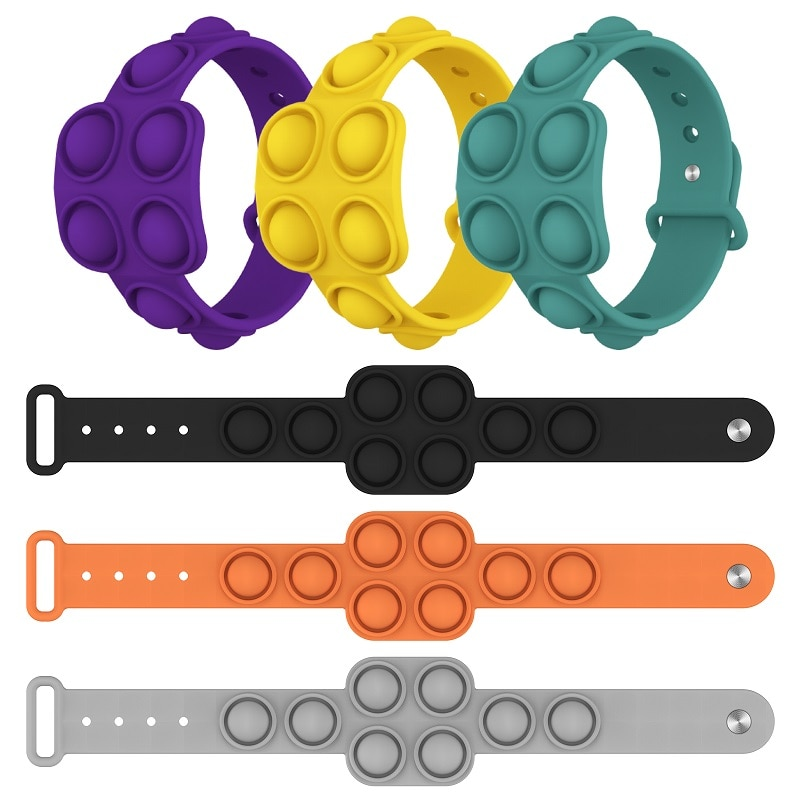 Fidget Portable Dimple Silicone Bracelet Relieves Pressure Pops Figet It Toy Is Nnon Toxic Puzzle Soft - Popping Fidgets