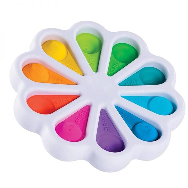 Fidget Simple Dimple Toy Flower Pop It Toys Stress Relief Hand Toys Early Educational for Kids 1 - Popping Fidgets