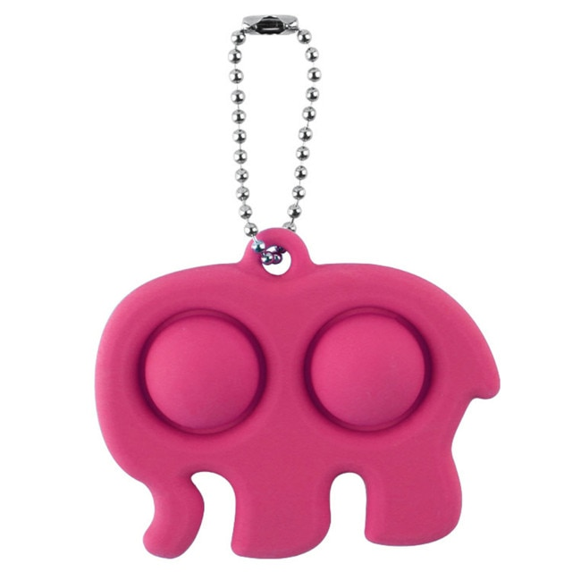 Fidget Simple Dimple Toy Stress Reliever Toy Keychain Pendant Fidget Simple Dimple Toy Stress Reliever - Popping Fidgets