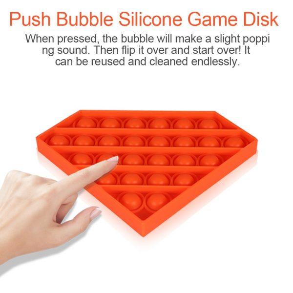 Figet Toys Diamond Push Bubble Sensory Toy Pop it Fidget Stress Reliever for Adult Kid Pop 3 - Popping Fidgets