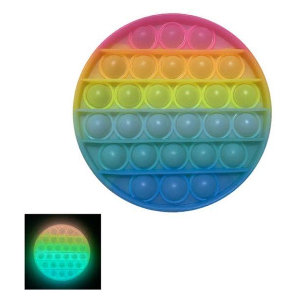 Glow Pop Push Bubble Fluorescence Bubble Fidget Toy Antistress Squeeze Sensory Toy Relief Squishy Toys Gift 6.jpg 640x640 6 - Popping Fidgets