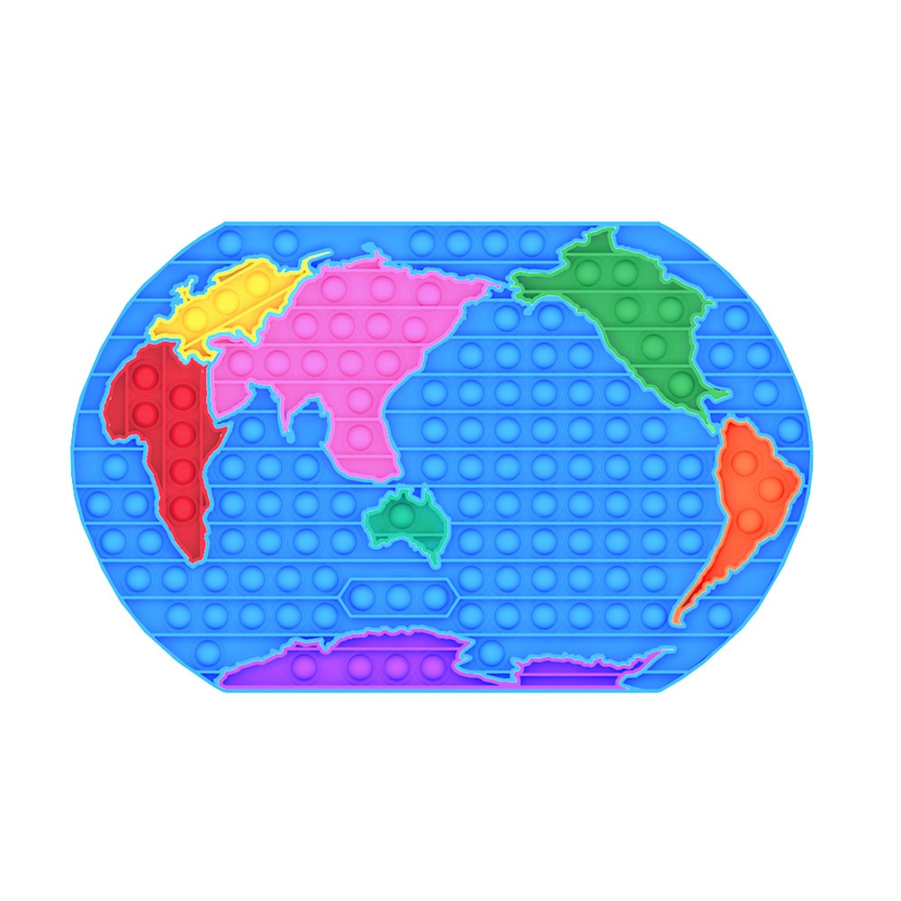 Hot Push Bubble Fidget Toys World USA Map Adult Stress Relief Toy Antistress Soft Squishy Anti 1 - Popping Fidgets