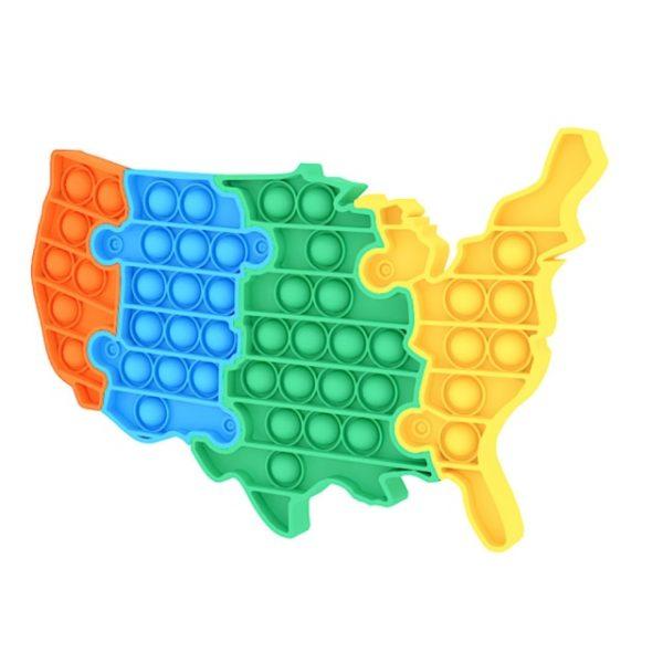 Hot Push Bubble Fidget Toys World USA Map Adult Stress Relief Toy Antistress Soft Squishy Anti 1.jpg 640x640 1 - Popping Fidgets
