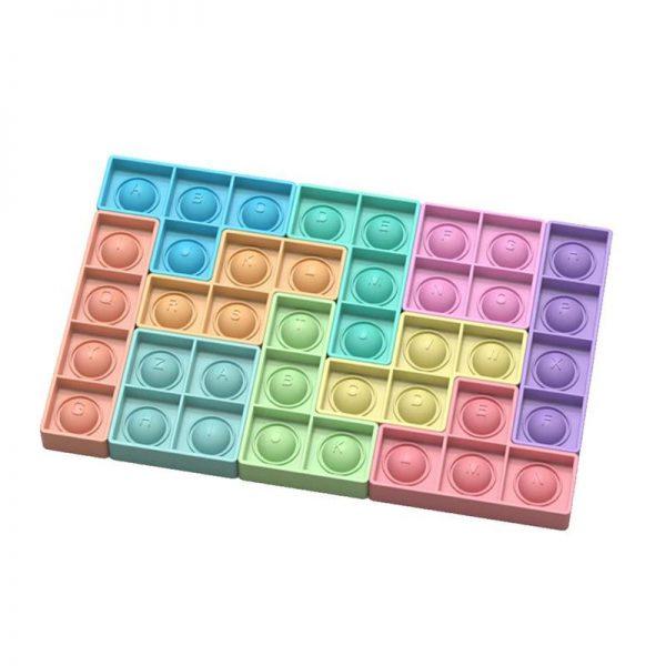 Jigsaw Bubble Push Bubble Fidget Toys Adult Stress Relief Toy Antistress Soft Squishy Gift Anti Stress 3 - Popping Fidgets