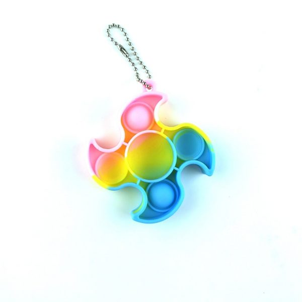 Mini Push Pops Bubble Sensory Toy Keychain Autism Squishy Adult Stress Reliever Toy for Children - Popping Fidgets