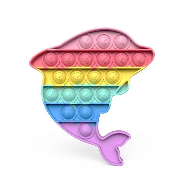 New Push Bubble Fidget Antistress Toys Adult Kids Unicorn Dinosaur Pop Fidget Sensory Toy Autism - Popping Fidgets