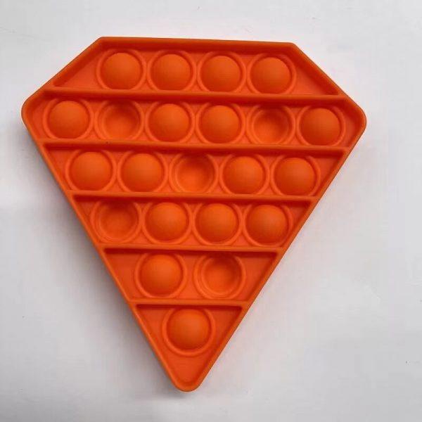 PT126 PT129 Purple Yellow Pentagon Push Pops Bubble Sensory Toy for Adult Child Funny Anti stress 4 - Popping Fidgets