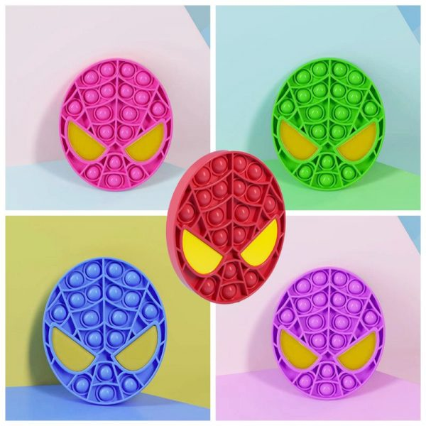 Pops It Spiderman Bubble Sensory Toy For Autism Special Needs Autism Squishy Stress Reliever Kid Funny 1 - Popping Fidgets