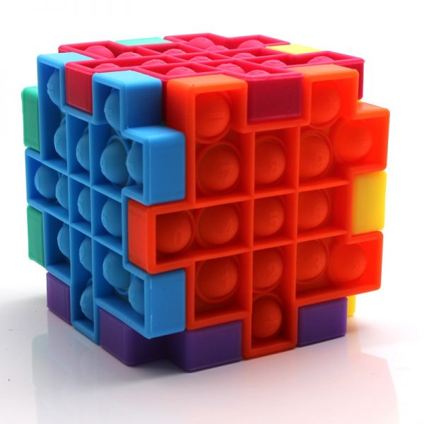 Pops it Cube Fidget Relieve Stress Toys Model Bubble Anti stress Adult Children Sensory Silicone Puzzle - Popping Fidgets