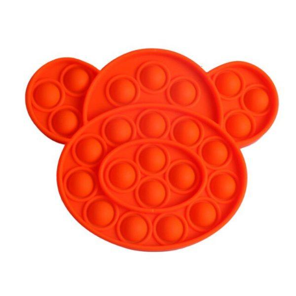 Push Pop It Bubble Multicolor Puppy Dog Shape Fidget Toys Autism Special Needs Stress Reliever - Popping Fidgets