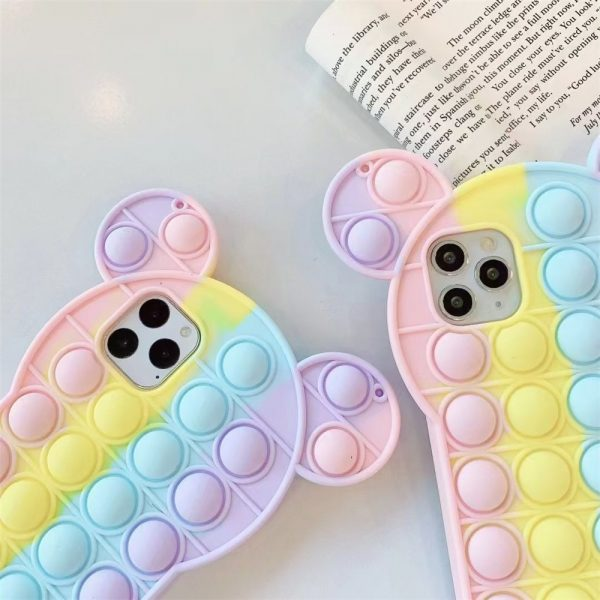 Rainbow Bubble phone case for iphone6 7 8 xs xr 11 12pro se mini Reliver Stress 1 - Popping Fidgets