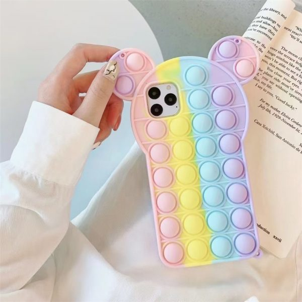 Rainbow Bubble phone case for iphone6 7 8 xs xr 11 12pro se mini Reliver Stress 3 - Popping Fidgets