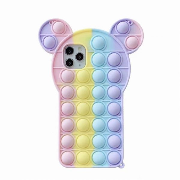 Rainbow Bubble phone case for iphone6 7 8 xs xr 11 12pro se mini Reliver - Popping Fidgets