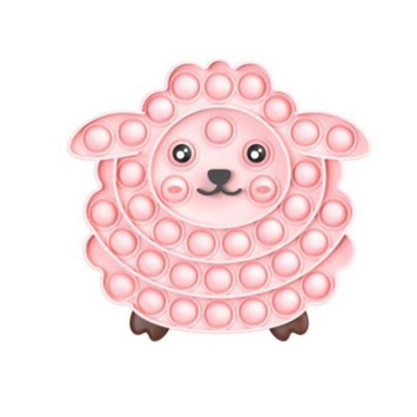 Silicone Pop Fidget Reliver Stress Toys Sheep Shape Push It Bubble Antistress Adult Children Sensory - Popping Fidgets