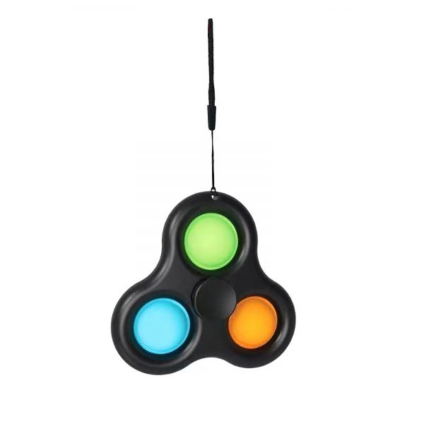 Simple Dimple Spinner Push Pop Fidget Toy Anti Stress Toy Anxiety Relief Toy Pop Sensory Toy 1 - Popping Fidgets