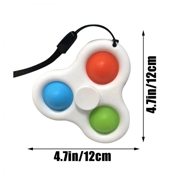 Simple Dimple Spinner Push Pop Fidget Toy Anti Stress Toy Anxiety Relief Toy Pop Sensory Toy 3 - Popping Fidgets