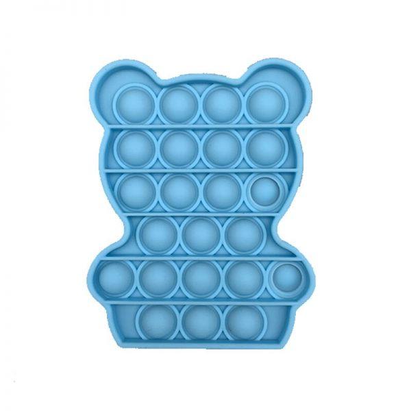 Simple Push Pop It Figet Toys Bear Cute Shape Anti Stress Bubble Sensory Stress Relief Autism 1 - Popping Fidgets