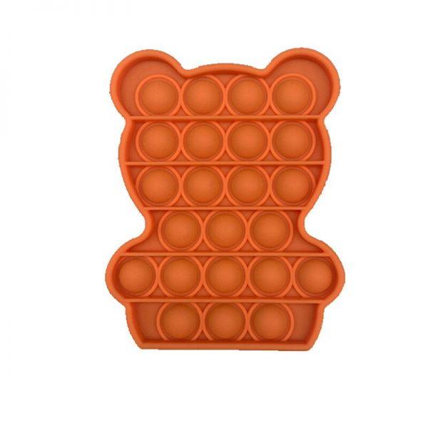 Simple Push Pop It Figet Toys Bear Cute Shape Anti Stress Bubble Sensory Stress Relief Autism 3 - Popping Fidgets