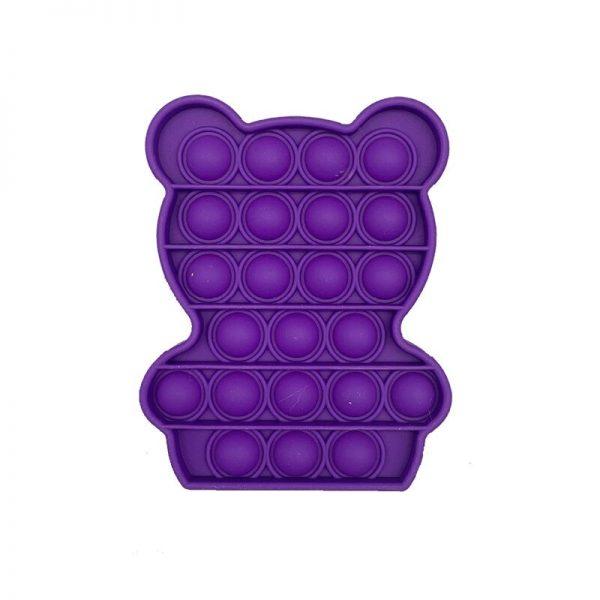 Simple Push Pop It Figet Toys Bear Cute Shape Anti Stress Bubble Sensory Stress Relief Autism 4 - Popping Fidgets