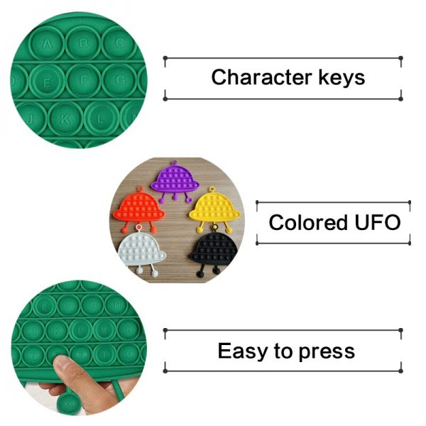 UFO Fidget Toys Toy Cognitive Card Pop it Funny Other Professions Antistress Hand Small Pack Cheap 3 - Popping Fidgets