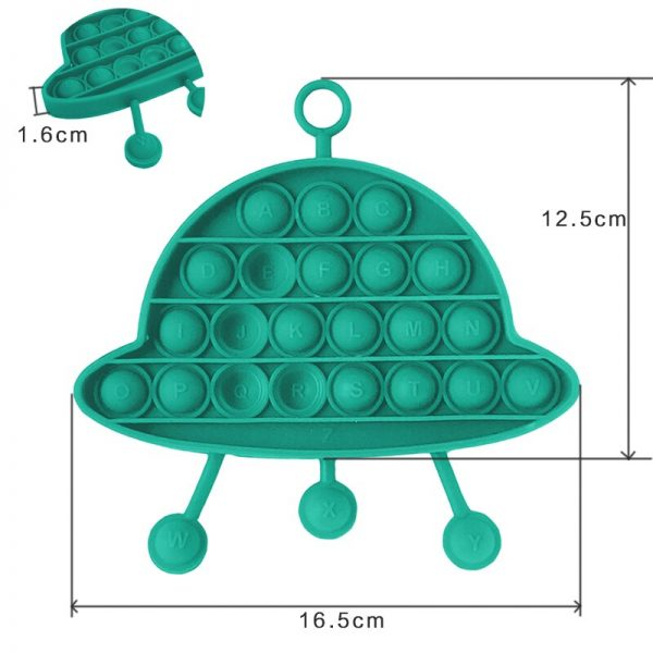UFO Fidget Toys Toy Cognitive Card Pop it Funny Other Professions Antistress Hand Small Pack Cheap 4 - Popping Fidgets