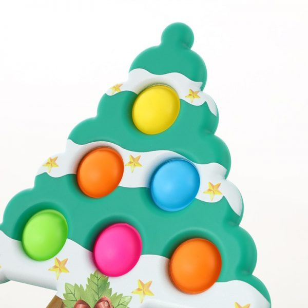 Christmas Tree Pop It Antistress Fidget Toys Push Bubble Sensory Squeeze Relief Stress Simpl Dimple Toys 1 - Popping Fidgets