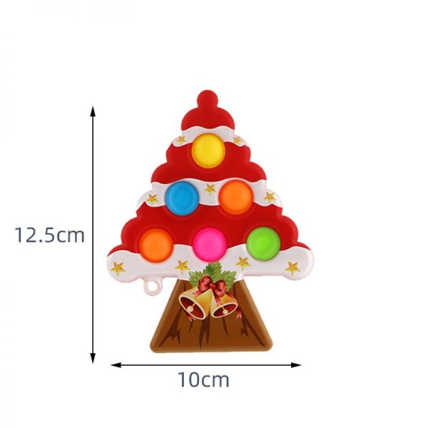 Christmas Tree Pop It Antistress Fidget Toys Push Bubble Sensory Squeeze Relief Stress Simpl Dimple Toys 3 - Popping Fidgets