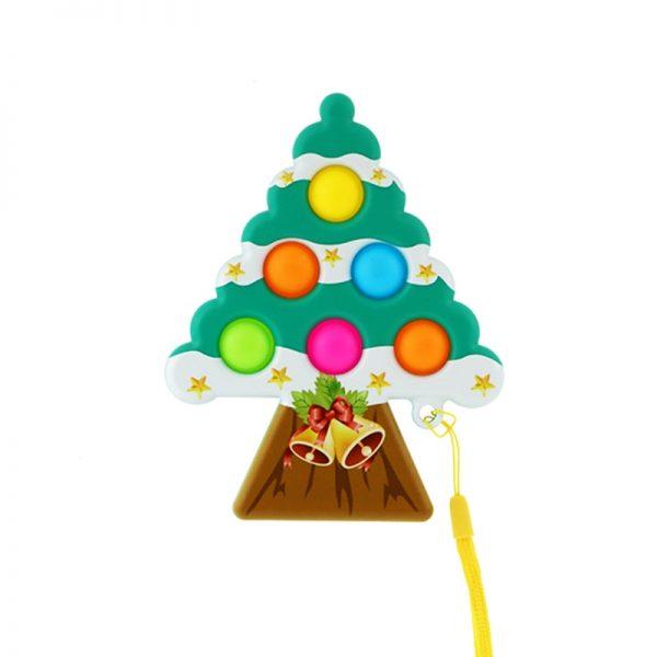 Christmas Tree Pop It Antistress Fidget Toys Push Bubble Sensory Squeeze Relief Stress Simpl Dimple Toys 5 - Popping Fidgets