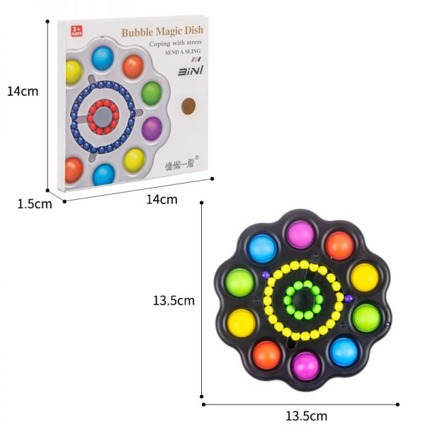 Colorful Popit Fidget Toy Spinner Stress Relief 10 Sides Spinner It Pop Stress Relief Fidget Toys 5 - Popping Fidgets