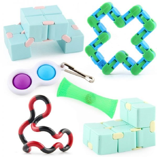Fidget Toys Anti Stress Set Strings Relief Pack Gift for Adults Children Figet Sensory Squishy Relief 3 - Popping Fidgets