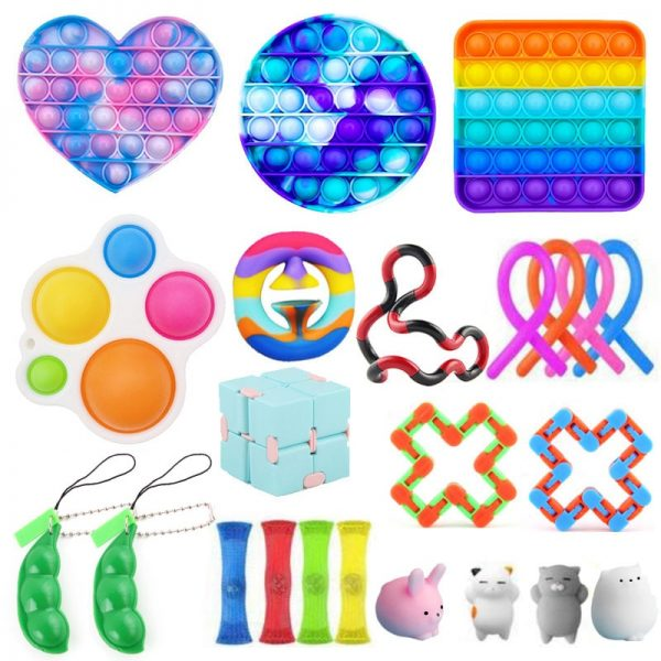 Fidget Toys Anti Stress Set Strings Relief Pack Gift for Adults Children Figet Sensory Squishy Relief - Popping Fidgets