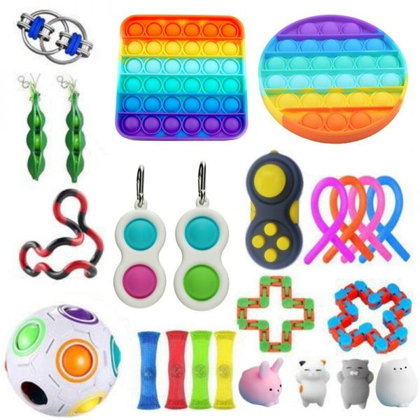Fidget Toys Set Anti Stress Pack Strings Marble Relief Gift Adults Children AntisTress Relief Figet Box 2 - Popping Fidgets