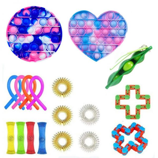 Fidget Toys Set Anti Stress Pack Strings Marble Relief Gift Adults Children AntisTress Relief Figet Box 3 - Popping Fidgets