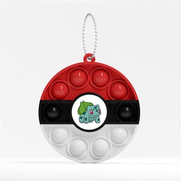 Pokemon Anime Figure Periphery Pop It Fidget Toys Keychain Autistic Patient Push Pop It Pokemon Poke 2 - Popping Fidgets