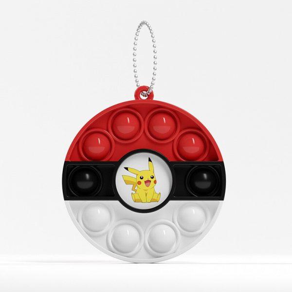 Pokemon Anime Figure Periphery Pop It Fidget Toys Keychain Autistic Patient Push Pop It Pokemon Poke 5 - Popping Fidgets