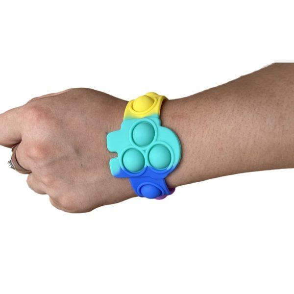 Pop Fidget It Toys Among 6 US Silicone Bracelet Squeeze Toy Soft Dimple Bubble Bracelet Stress 1 - Popping Fidgets