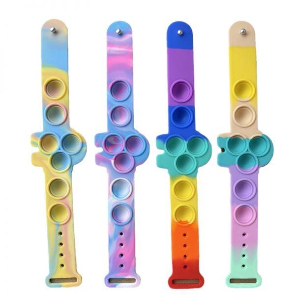 Pop Fidget It Toys Among 6 US Silicone Bracelet Squeeze Toy Soft Dimple Bubble Bracelet Stress 5 - Popping Fidgets