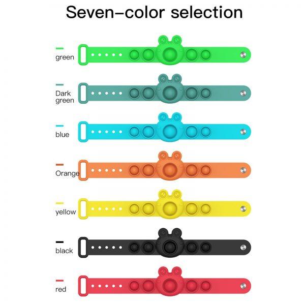 Simple Dimple Push pop Bracelet Bubble Fidget Toy Reliver Stress Sensory Toys Anxiety Bracelet Push it 1 - Popping Fidgets