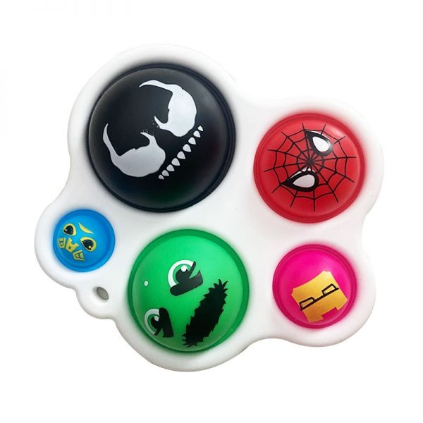 New Fidget Toy Finger Push Bubble Music Children Hand Pressure Keychain Simple Dimple Toy 2 - Popping Fidgets