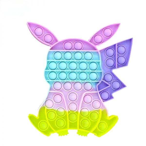Pokemon Pikachu Pop Fidge Anime Anti Stress Push Bubble Figet Toys Keychain Antistress Reliever Child Funny 2 - Popping Fidgets